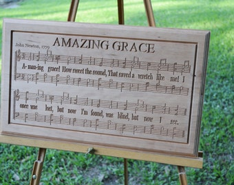 Amazing Grace Sheet Music Carving