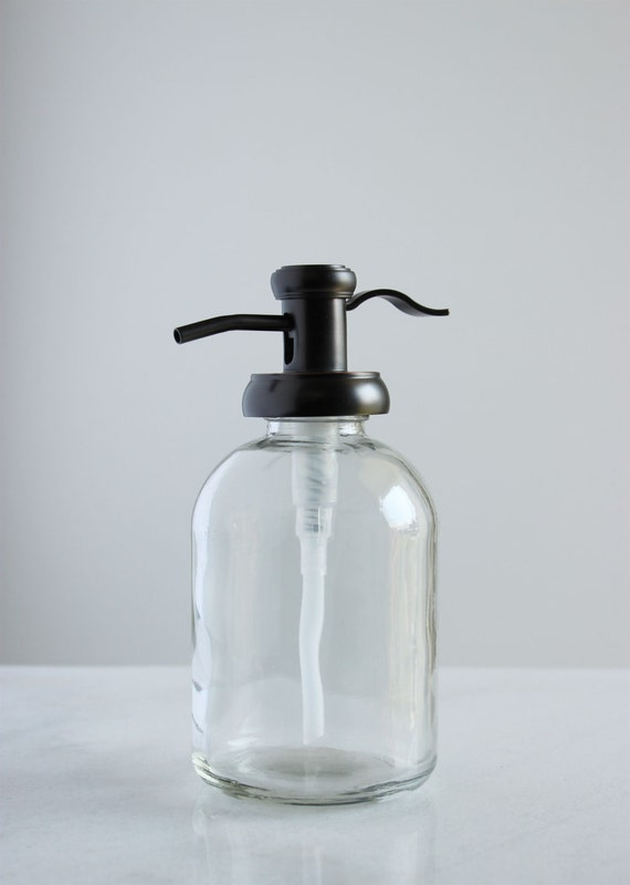 Bell Glass Soap Dispenser With Antique Bronze Pump By Rail19