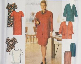 Full Figure Dress, Top, Skirt Jacket Pattern