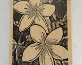 Two Flowers Background  Rubber Stamp by Toybox from 2003 FREE US SHIPPING