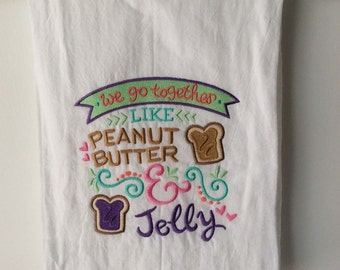 Embroidered Flour Sack Towel