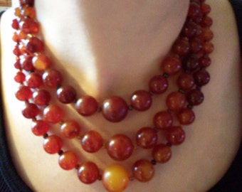 3 Strand Bakelite Necklace