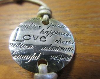Sterling Silver Cord Love Bracelet