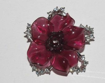 Nolan Miller Purple Flower Brooch - S1557