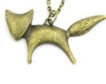 Fox Necklace (bronze)