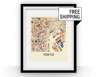 Tokyo Map Print - Full Color Map Poster