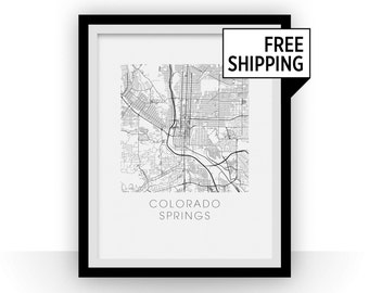Colorado Springs Map Print