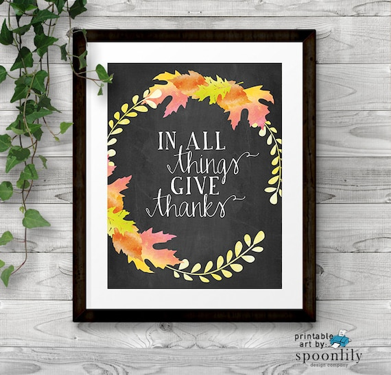 Thanksgiving Classroom Wall Decor : Thanksgiving printable wall decor art print home by spoonlily