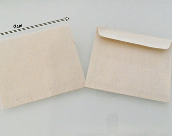 KRAFT Mini Envelopes 9cmX8cm Set of 12/24|Mini Cash Envelopes|Coins Envelopes|Mini Gift Card Envelopes|12pcs KRAFT|24pcs KRAFT Envelopes
