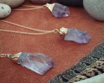 Athena // Amethyst Necklace // Crystal Necklace // Boho Necklace // Stone Necklace // Hippie Necklace // Bohemian // Spiritual // Gold