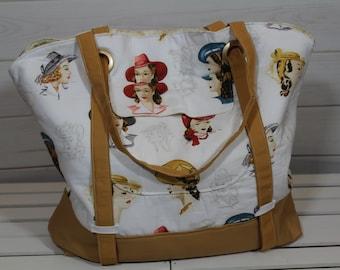 Beach Bag, Beach Tote Bag, Weekender Bag, Sophia Beach Tote Weekender Glamour Girls Bag