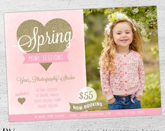 Spring Marketing Board, Mini Session Template, Photoshop Templates for Photographers, Photography Marketing, Photography Board - 05-001