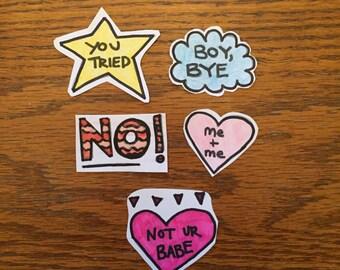 Sassy Sticker Set
