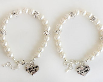 Set of 2 mother of the bride mother of the groom jewelry, mother gift, mother of the bride bracelet, mother of the groom bracelet