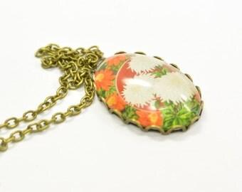Necklace flower romantic