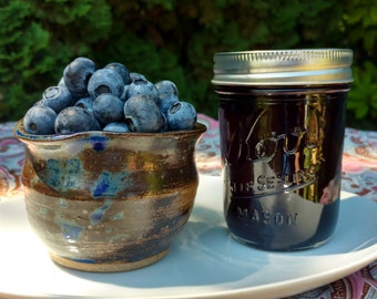 Blueberry Jam, small batch, handcrafted jam, 8 ounce jar,  Oregon, Pacific Northwest made