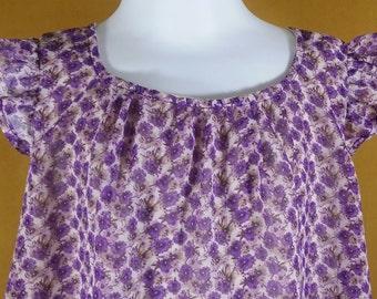 3T Chiffon purple a line feminine dress