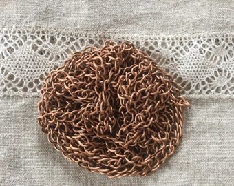 Copper Curb Chain 5x 7 mm