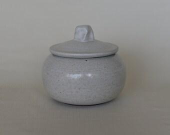 Small White Lidded Jar