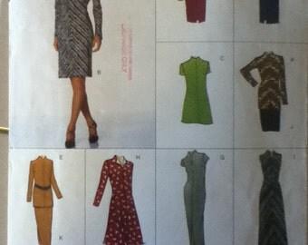"""Vogue Dress, Tunic & Skirt Pattern 2051  Size: 6-10 , Bust  30""""-32"""", waist 23""""-25"""", Hip 32""""-34"""""""