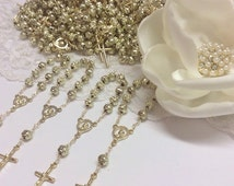 10%off weekend sale 35 pcs Rosaries, Mini Rosaries, decade rosaries, First communion favors Recuerditos Bautizo / Mini Rosary Baptism Favors