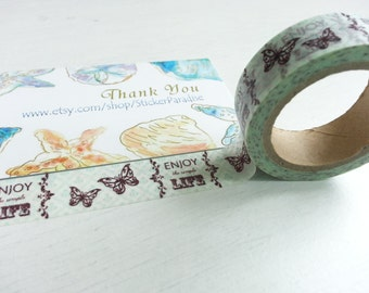 Vintage Style Butterfly Tape - 10M