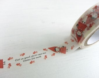Sales : Little Red Riding Hood Masking Tape - 15 mm x 10 M
