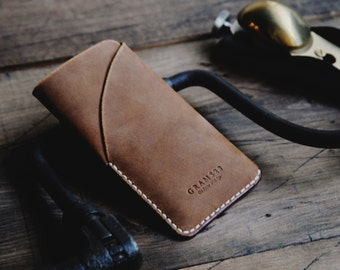 GRAMS28 | iPhone 7 / 6 / 6s leather case with card holder, iPhone 7 / 6 / 6s leather sleeve, iPhone 7 / 6 / 6s leather Wallet