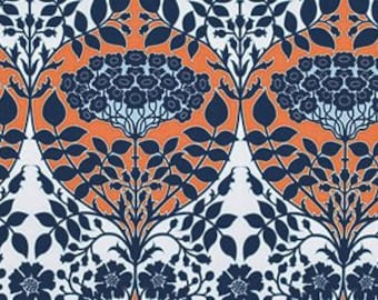 Joel Dewberry Botanique 'Leafy Damask' in Apricot Cotton Fabric