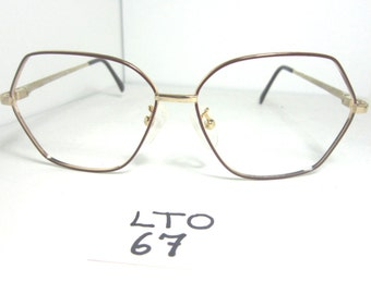 80s GLORIA VANDERBILT Sun Eyeglass Frame by Zyloware M5 Red Gold (LTO-67)