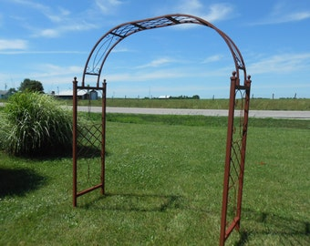 Customized To Fit - Wider SkiView Wrought Iron Arbor Arch - You Pick The Size