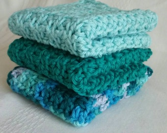 Crocheted Cotton Wash Cloths