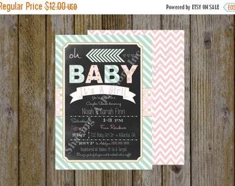 Pastel Invitation - Oh Baby Shower Invitation - Printable Baby Shower Invitation - Couples Baby Shower Invitation - It's A Girl Invitation