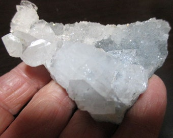 Stunning Ice Blue Chalcedony with Apophyllite Crystal Cluster