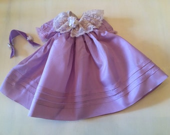 Doll Clothes, Mimi, Opera, Mary Ann, Maggie, Madame Alexander, Vintage, 14 Inch Doll, Tagged, Doll Dress, Headpiece, Purple, 2pcs
