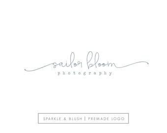 Premade Photography Logo - Etsy Shop Logo - Simple Modern Signature Cursive Swash Design Handwritten Style Script Lowercase Watermark (e969)