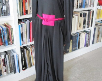 GEOFFRY BEENE JUMPSUIT Black With Magenta Size Large