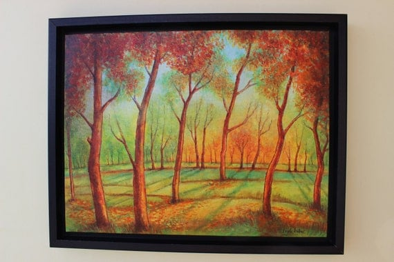 original oil painting floater frame 20 39 39 x 16 39 39 x by just4decor. Black Bedroom Furniture Sets. Home Design Ideas