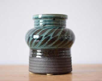Vintage Danish - Thomas Toft - big budded vase - signed TT - collectible - Danish midcentury pottery