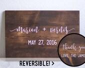 Reversible Wedding Sign, Welcome Wedding Sign, Thank You Sign, Wedding Signage