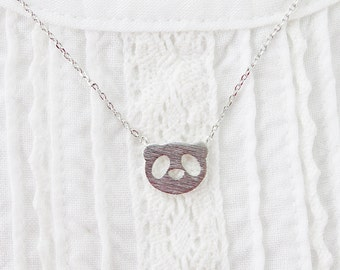 Tiny Panda Charm Necklace . Panda Face Necklace Bridesmaid Gift Bridesmaid Necklace . dainty and Simple Necklace Birthday Gift