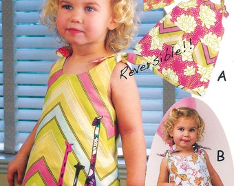 Pattern - To Tie For - Dress & Doll dress Paper Sewing Pattern by Olive Ann Designs (OAD56) Paper Pattern