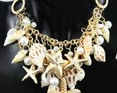 Coastal Beach Inspired Jewelry - Bohemian Coastal Bib Necklace and Bracelet