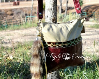 All Leather Crossbody Bag