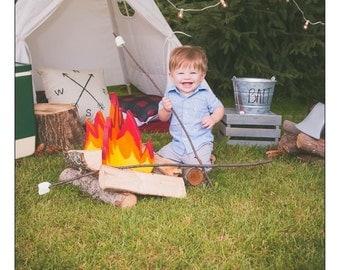 NEW Cap Fire Phot Prop, Camp Fire Prop, Camping Prop, Photography Prop, Props