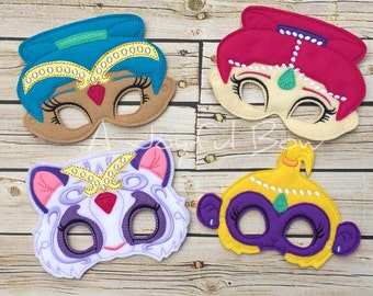 Shimmer and Shine inspired dress up and party favor masks. Christmas gifts, presents, shimmer and shine birthday, shimmer and shine party