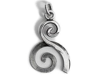 Beach Waves Pendant 925 Silver