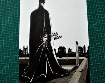 Ink on Paper - Batman and Robin fanart 2