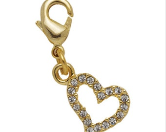 Heart Crystal Charm For Pens