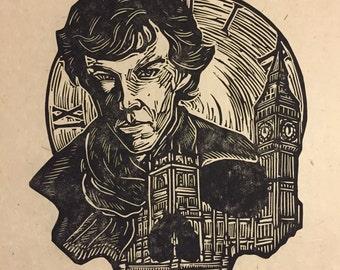 Sherlock Block Print